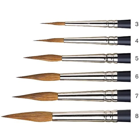 Winsor & Newton Artists' Watercolour Short Handle Pointed Round Brush
